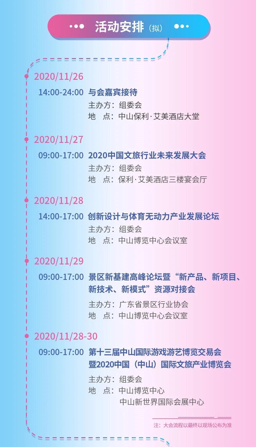 2020中国文旅行业未来发展大会活动安排