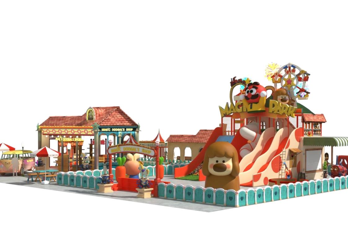 神奇的多戈尔小镇乐园主题美陈乐园